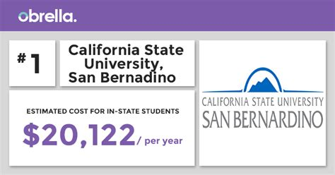 Cal State San Bernardino Mba by Most Affordable Colleges In California Obrella