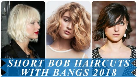 17 charming short hairstyles for women with bangs 2018