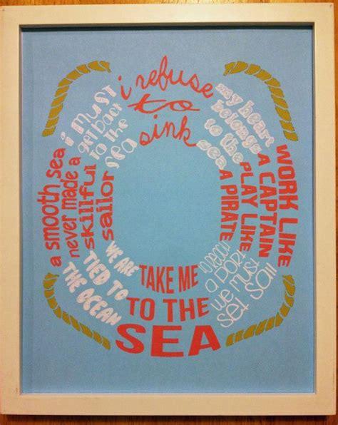 printable nautical quotes life preserver nautical quote print