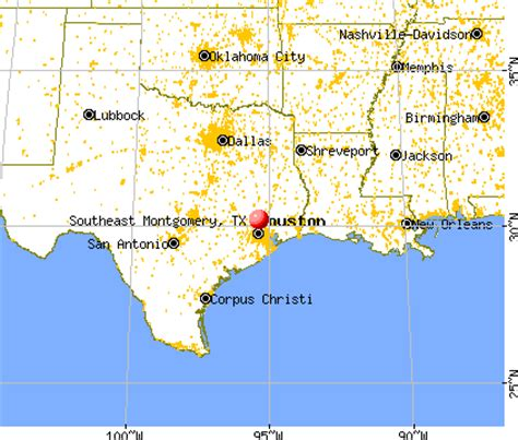 montgomery texas map southeast montgomery texas tx 77302 profile population maps real estate averages homes