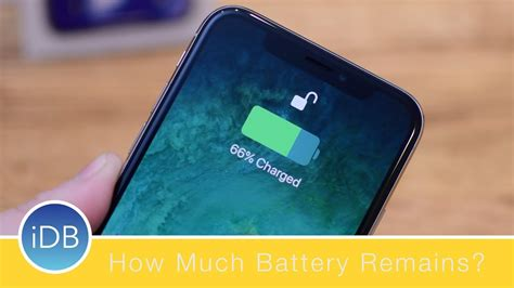 how to view the remaining battery percentage on iphone x