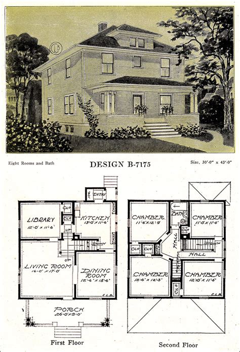 foursquare house plans modern american homes classic foursquare c l bowes 1918
