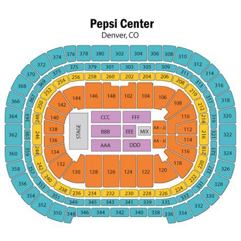 pepsi center seating view fleetwood mac june 01 tickets denver pepsi center
