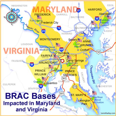 map maryland and virginia va loans for active duty and retired home buyers