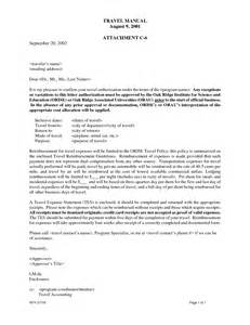 travel authorization letter travel authorization letters