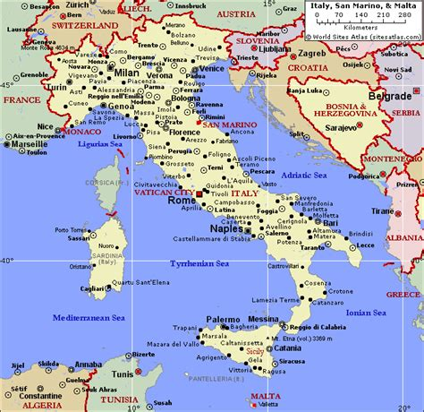 world map with country name italy political map of italy and malta southern italy travels