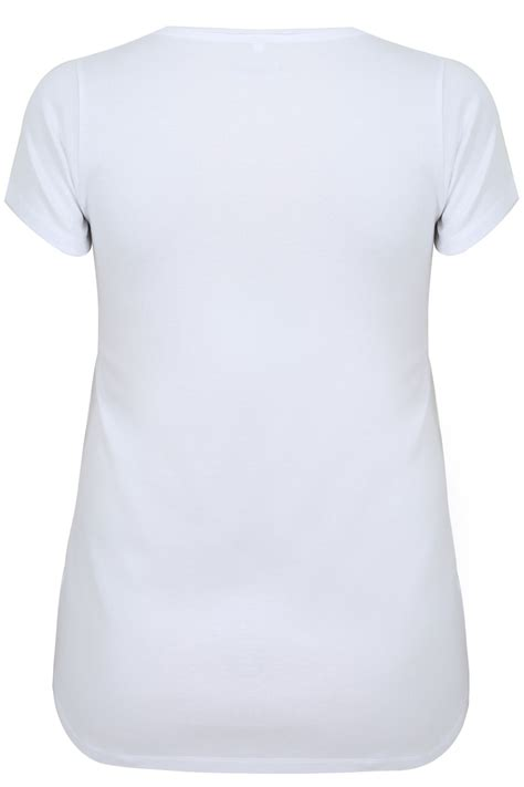 Tshirt Circle C3 t shirt basique blanc avec col en v taille 44 224 64
