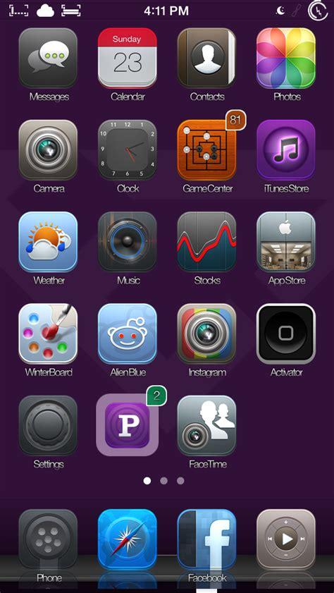 elite7 is an iphone theme that goes far beyond custom icons theme sunday elite 7 fuel 0xygen infinite7 vectros