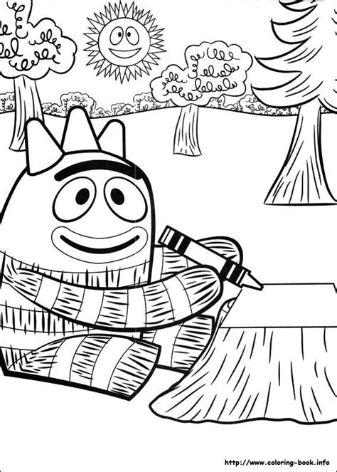 pages book info yo gabba gabba coloring picture