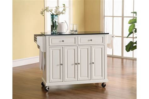 white kitchen island with black granite top solid black granite top kitchen cart island in white