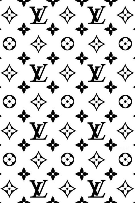 louis vuitton pattern black white louis vuitton iphone wallpaper fondos