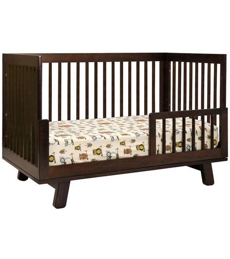 How To Convert 3 In 1 Crib To Toddler Bed Babyletto Hudson 3 In 1 Convertible Crib With Toddler Bed Conversion Kit In Espresso Finish