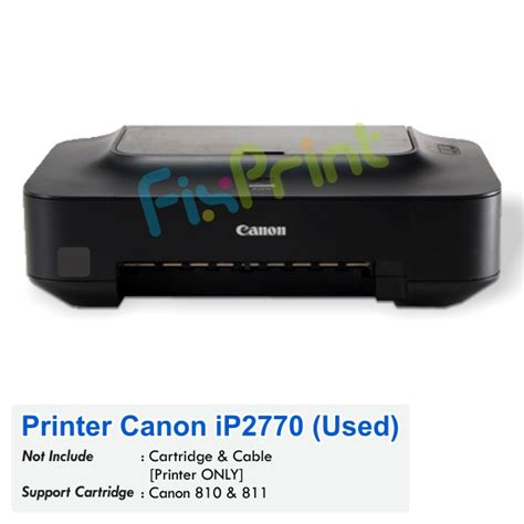 Tinta Refil Printer Canon Ip 2770 jual printer bekas canon pixma ip2770 harga murah tinta printer cartridge printer
