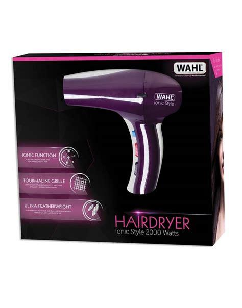Wahl Hair Dryer Ebay wahl ionic style 2000 watt tourmaline grille hair dryer