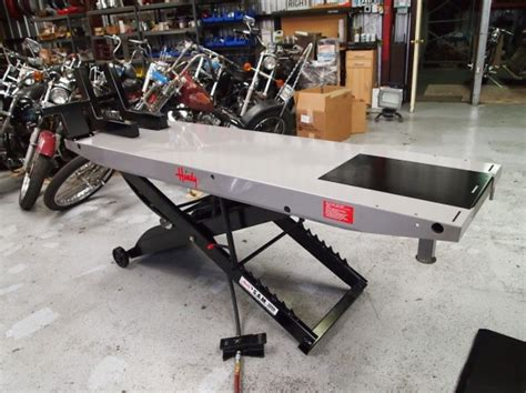 handy motorcycle lift table handy motorcycle lift south bay machines