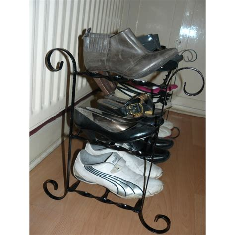 Handmade Shoe Rack - shoe rack wrought iron shoe storage handmade