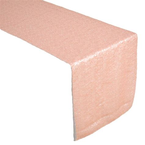 pink blush sequin table runner for wedding events by