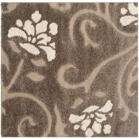5ft Rug by Safavieh Florida Shag Smoke Beige 5 Ft X 5 Ft Square