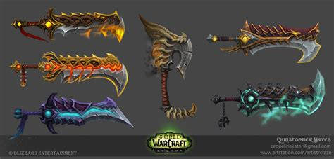 legion artifact weapon skins fury artstation world of warcraft legion fury warrior