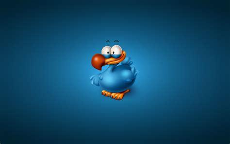 wallpaper cartoon blue bird blue minimalism cartoon wallpaper 1680x1050 9057