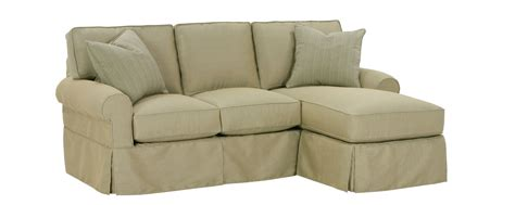 small chaise sofa small slipcovered sectional sofa w reversible chaise rolled arms