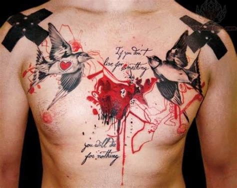 bird chest tattoo birds tattoos and designs page 279