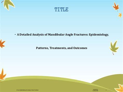 pattern analysis epidemiology dr rahul vc tiwari oral maxillofacial surgery sibar