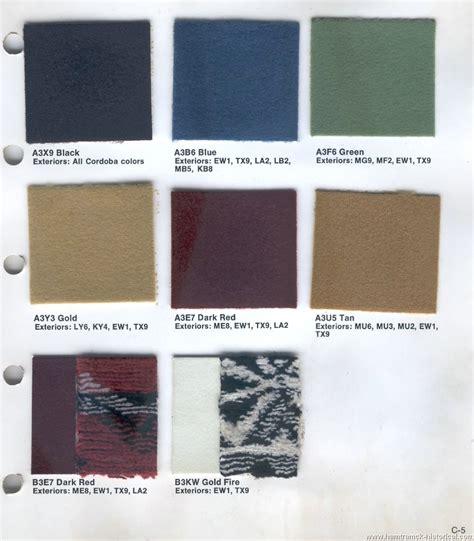 hamtramck registry  chrysler color trim