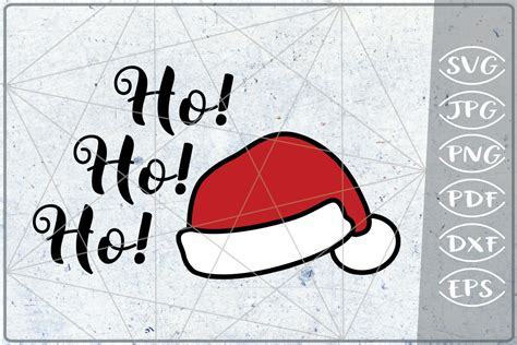 ho ho ho santa laugh svg quote svg merry christmas print