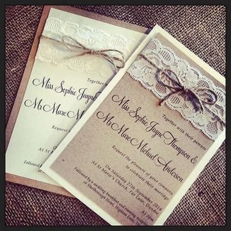 Mahar Pernikahan Shabby Chic 1 4 1 vintage shabby chic wedding invitation with