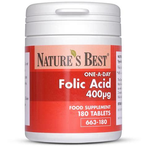 Vitamin Folic Acid folic acid tablets vitamin b9 400 181 g nature s best