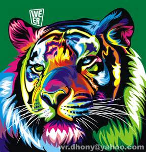 colorful tiger tiger weer animales tigers
