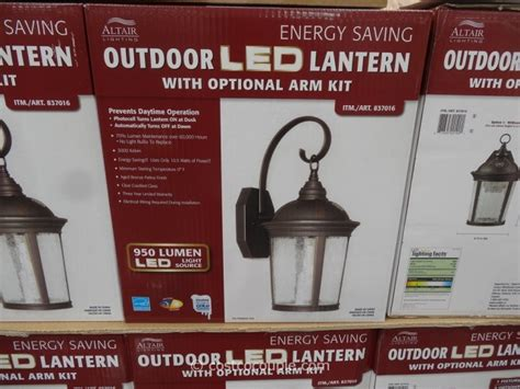 altair outdoor led coach light altair outdoor led lantern