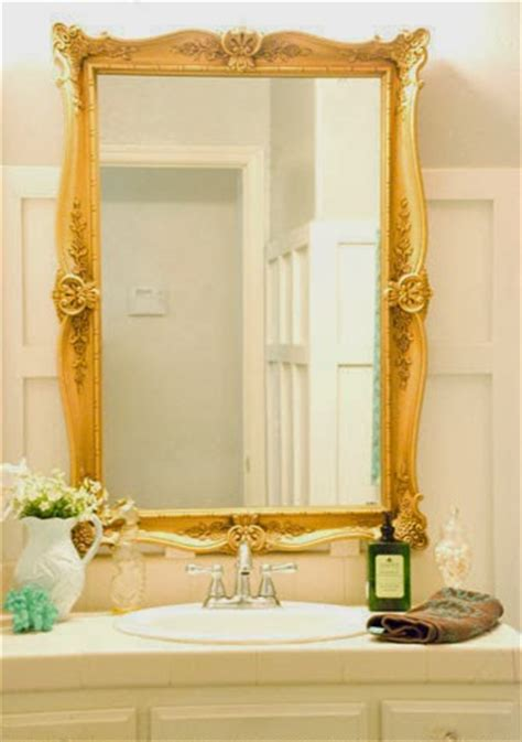 gold frame bathroom mirror remodelaholic how to remove and reuse a large builder