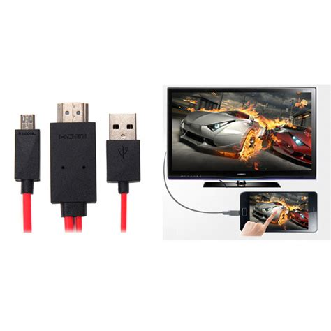 0 2m Usb Cable For Android Phone 2m micro usb mhl to hdmi tv audio adapter data cable for