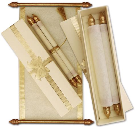Scroll Wedding Invitations by Unique Scroll Cards Is Scroll Wedding Cards Wedding