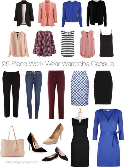 Work Wardrobe Capsule by 25 Work Wear Wardrobe Capsule
