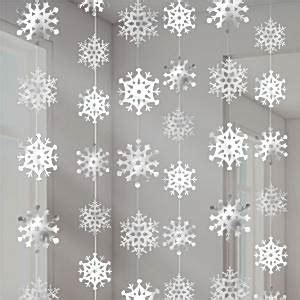 snowflake christmas hanging strings decoration 2 1m