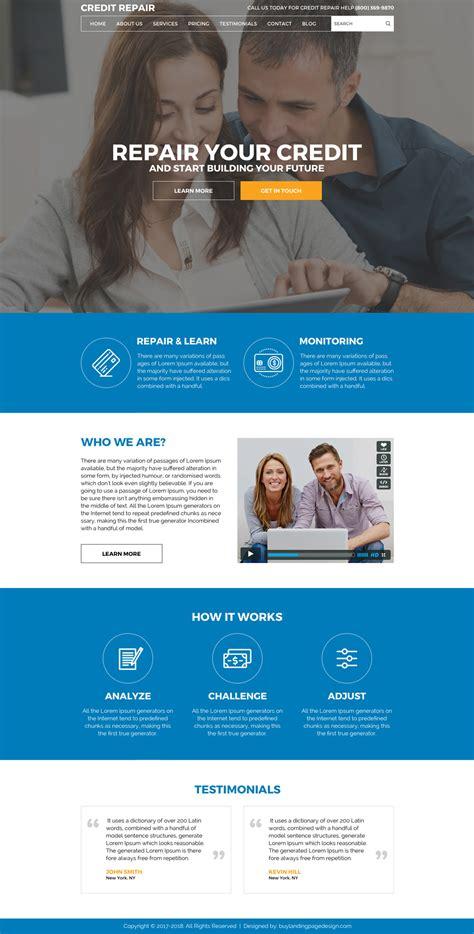 Build A Credit Repair Website Design 007 Credit Repair Html Website Template Preview Credit Repair Website Template