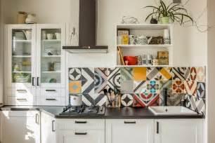 cr 233 dence cuisine carreaux de ciment patchwork et artistique