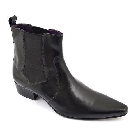 buy mens black cuban heel chelsea boots gucinari style