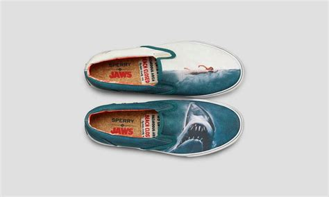 sperry x jaws boat shoes cool material - Jaws Boat Shoes