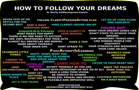 how to your to follow you 21 tips to follow your dreams
