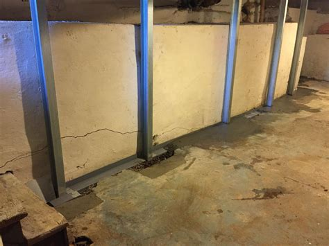 basement waterproofing power braces foundation