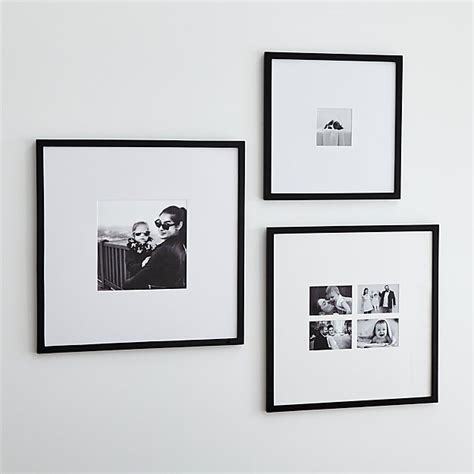 matte black wall frames crate  barrel