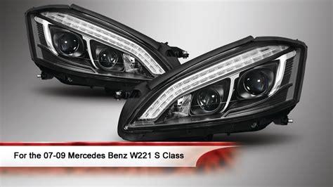 mercedes s class headlights 07 09 mercedes benz w221 s class drl led projector