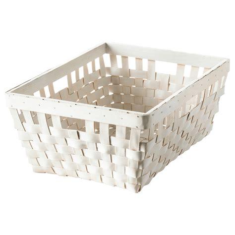 ikea basket knarra basket white 38x29x16 cm ikea