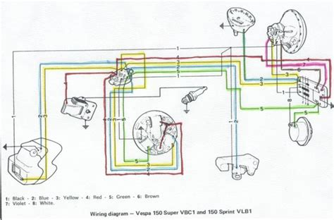 electric motor wiring diagram additionally vintage vespa