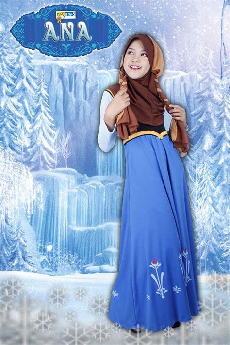 Baju Muslim Frozen baju muslim anak frozen new style for 2016 2017