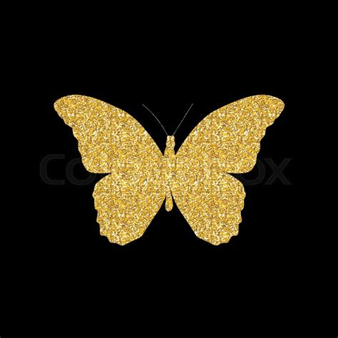 Butterfly Gold gold butterfly icon silhouette vector illustration eps10
